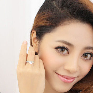 Gift New Arrival Stylish Jewelry Shiny Simple Design Diamonds Butterfly Lovely Ring [6586098311]