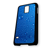 Blue Drops Glass Samsung Galaxy S5 Case