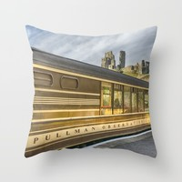 Pullman Observation Car Throw Pillow by Linsey Williams Wall Art, Clothing, And