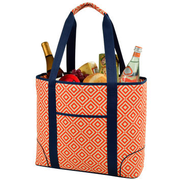 Extra Large Insulated Cooler Tote   Orange