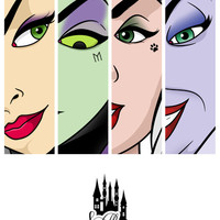 Disney Villains Art Print by Victor Berbel | Society6