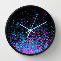 infinity in blue and purple Wall Clock by Marianna Tankelevich