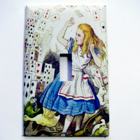 Light Switch Cover - Light Switch Plate Alice In Wonderland Cards