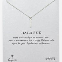 Women's Dogeared 'Reminder - Balance' Boxed Pendant Necklace - Silver