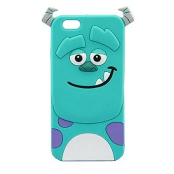 iPhone 6 Case, Palettes Maxx - 3D Cute Cartoon Monster Blue Giant Horn University Style Silicone Rubber Case for iPhone 6 4.7 inch