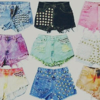 Studded Shorts by CoraleeMary on Etsy