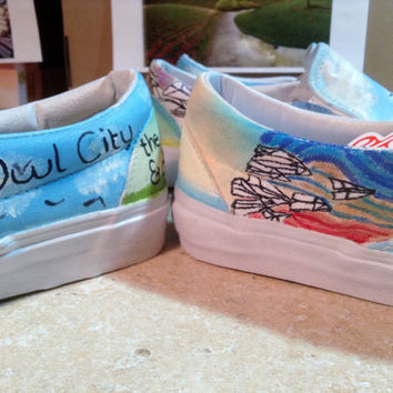 Owl City All Things Bright and Beautiful/The Midsummer Station/Sky Sailing Custom Hand-painted Shoes