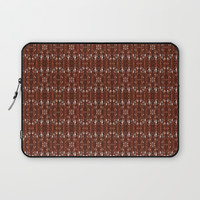 Rich Wine Pleat Pattern Laptop Sleeve by kasseggs