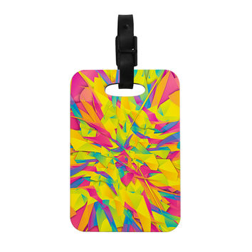 "Danny Ivan ""Bubble Gum Explosion"" Pink Yellow Decorative Luggage Tag"