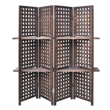 Crestview Collection Rustic Lattice Work Room Divider