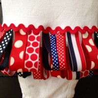 4th of July Looped Ribbon Onesuit