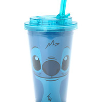 Disney Lilo & Stitch Face Flip Straw Acrylic Travel Cup