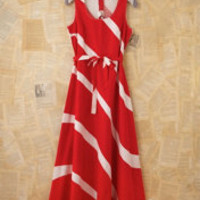 Vintage Red and White Maxi Dress at Free People Clothing Boutique