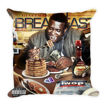 Breakfast Lunch & Dinner (16x16) All Over Print/Dye Sublimation Gucci Mane Couch Throw Pillow Insert & Pillow Case/Cover