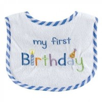 Luvable Friends Birthday Drooler Bib, Blue