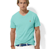 Polo Ralph Lauren Shirt, Short Sleeve Jersey V Neck T Shirt - Mens T-Shirts - Macy's