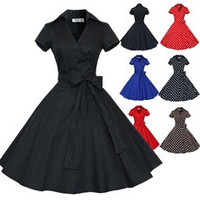 Maggie Tang 50s 60s Vintage Swing Rockabilly Ball Gown Pin up Party Dress Coat [8384307207]