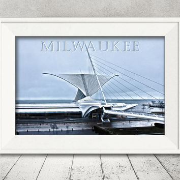 Milwaukee, WI Photographic Fine Art Print artwork home and office decor, living room, wall hanging gift, travel destination city