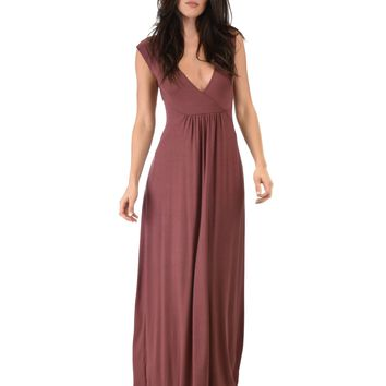 Lyss Loo Sweetest Kiss Sleeveless Marsala Maxi Dress
