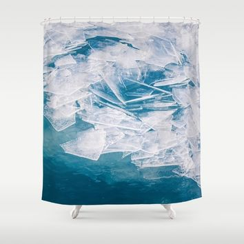 Broken Shower Curtain by Faded  Photos