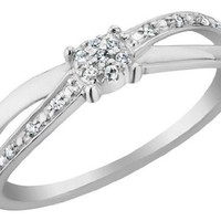 Diamond Promise Ring in 10K White Gold