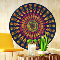 Round Beach Towel Yoga Mat Pool Home Shower Towel