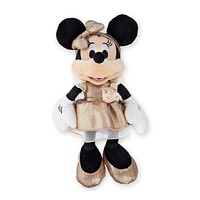 Disney Parks Minnie Mouse Rose Gold 11 inc Plush New with Tags