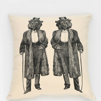 Spitfire Girl Gentleman Bear Pillow