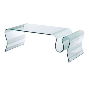 Discovery Coffee Table Clear Glass Tempered Glass