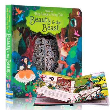 English Educational Picture Books Peep Inside Beauty and the Beast For Baby Early Childhood gift Children reading book