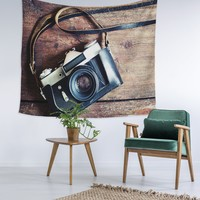 Vintage Camera Love Wall Tapestry