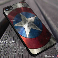 Captain America Shield iPhone 6s 6 6s+ 5c 5s Cases Samsung Galaxy s5 s6 Edge+ NOTE 5 4 3 #movie #disney #animated #marvel #comic dl7