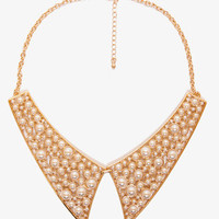 Pearlescent Beaded Collar Necklace