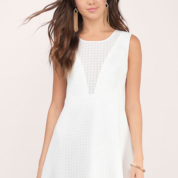 Love Letters Sheer Gingham Dress