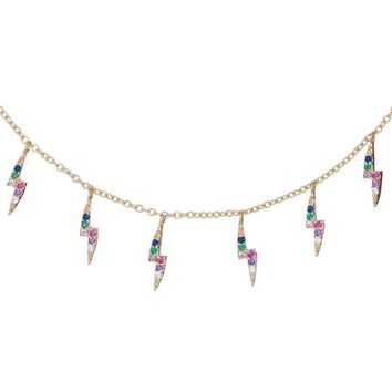 Rainbow Lightning Necklace