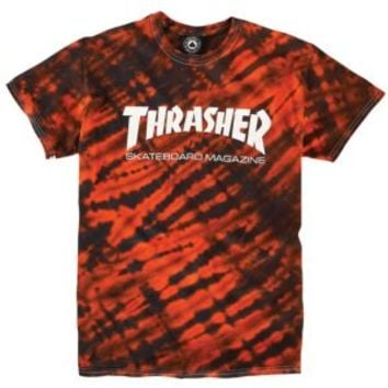 Thrasher Skate Mag Tiger Stripe Tie Dye T-Shirt - Men's at CCS