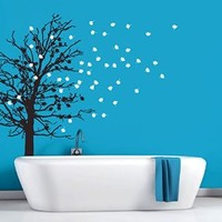 Wall Decal Vinyl Sticker Decals Art Decor Design Bedroom Dorm Office Nursery Kids Baby room Tree Branches foliage beautiful home (r1443)