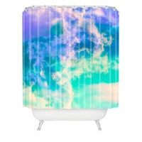 Caleb Troy Mountain Meadow Painted Clouds Shower Curtain