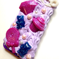 Frosting IPhone Decoden 5/5s Case//Glitter Resin Pendants//Gummy Bears//Pearls