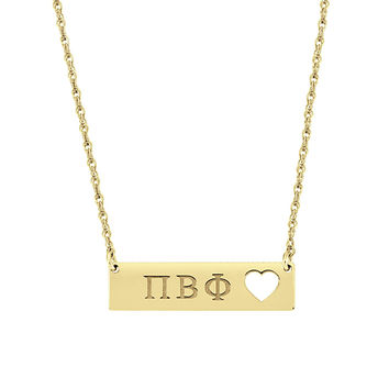 Greek Sorority Bar Necklace