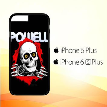 Hot New Powell Skateboards Skull X0150 iPhone 6 Plus|6S Plus Case