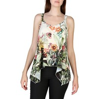 Rinascimento Green V-Neck Sleeveless Top