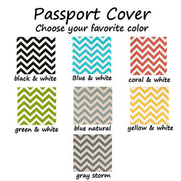 Passport Cover / Holder / Case - Chevron - zig zag - CHEVRON - pick your favorite