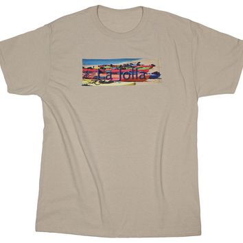 Kayakers Dream: Coastal Life Kayaks on a Beach T-shirt, Sandstone