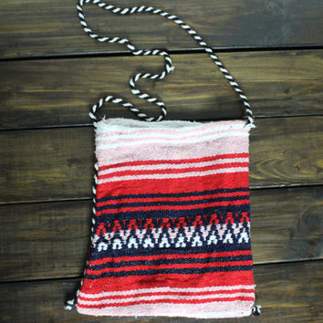 Womens Serape Boho Aztec Bag Mexican Blanket Shoulder Cross Body Bohemian Bag Girls Tribal School Bag or Back Pack Aztec Travel Hang Bag