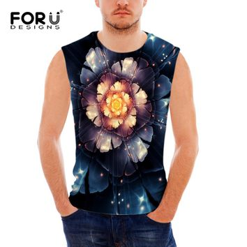 Men's Floral Print Tank Top Sleeveless T Shirt