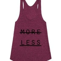 No More >> More Less-Unisex Tri Cranberry Tank