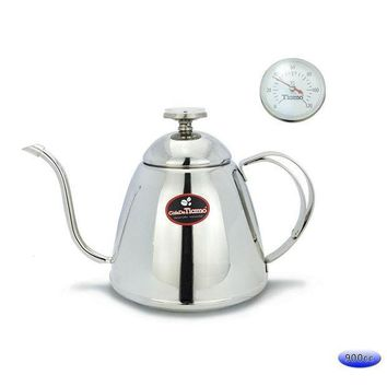 900ml Coffeepot Coffee Percolator Water Kettle With Thermometer
