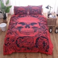 Skull Bedding Sets Single Queen King Size Duvet Cover Set Bed Linen Quilt Cover