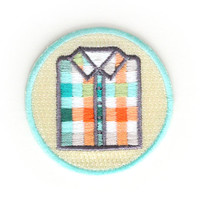 Plaid Shirt Iron On Patch
